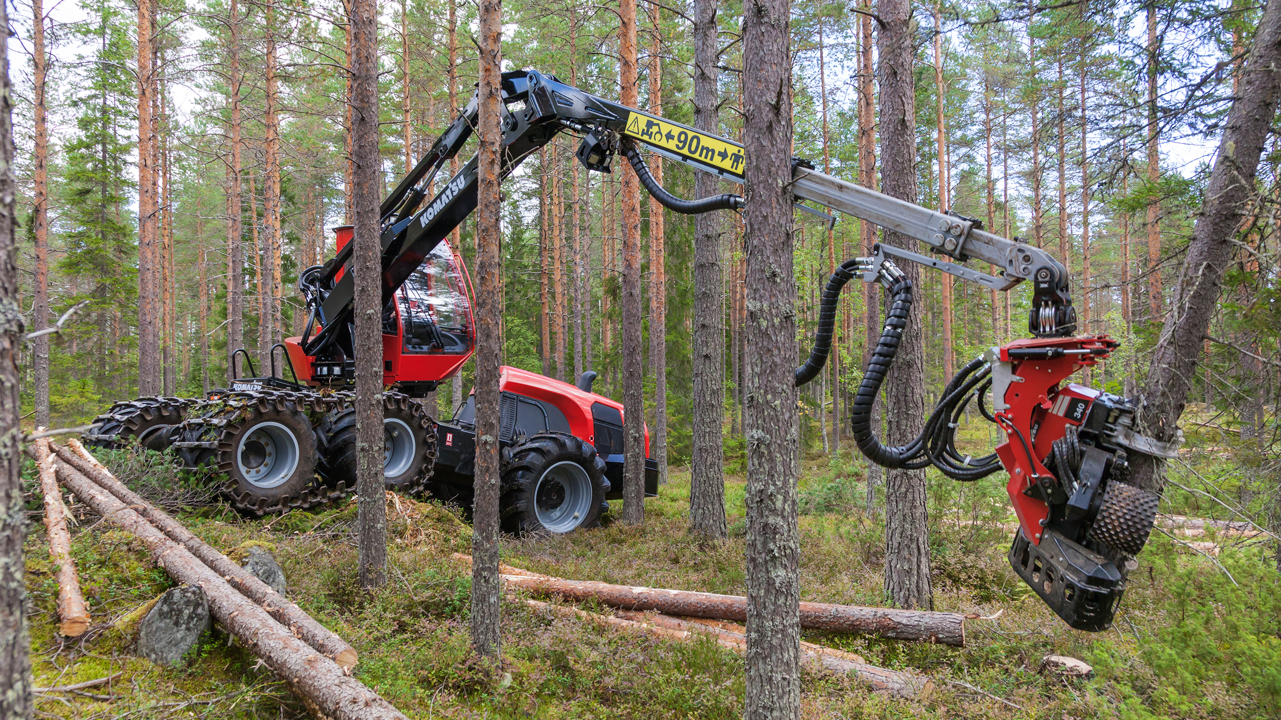 Tree Harvester Parts : Komatsu forest spare parts and accessories