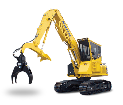 Komatsu PC240LL isolated on white background