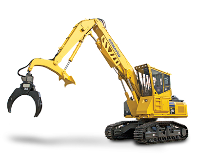 Komatsu PC390LL isolated on white background